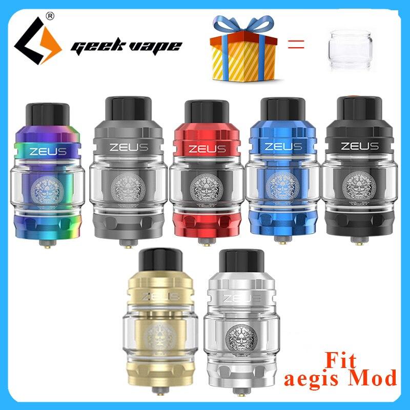Original Geekvape Zeus Sub Ohm Tank 5ml Electronic Cigarette Vape Atomizer MTL Mesh Coil Top Filling 510 Thread Vs Zeus X RTA