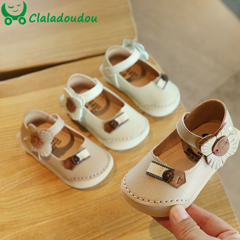 11.5-15.5cm Infant Shoes Baby Girl Newborn Baby Shoes Princess Flower First Birthday Party Dress Shoes 0-3Years Anti-Slip Walker