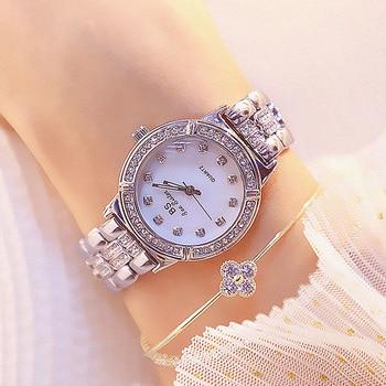 Ladies Wrist Watches Silver Bracelet Crystal Diamond Watch Top Brand Luxury Women Quartz Watch Female Dress Clock montre femme casual fashion women watches ultra thin mesh alloy quartz wrist watch womans watches elegant dress ladies watch montre femme
