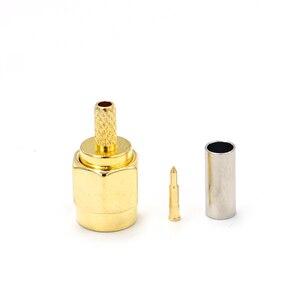 10 шт. высокое качество SMA штекер обжимной для RG174 RG316 RG178 RG179 LMR100 кабель RF разъем
