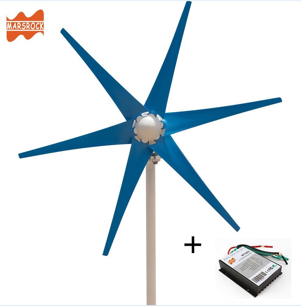 Livraison gratuite AC12V/24 V coloré éolienne générateur petit moulin à vent pour une utilisation à domicile ou en bateau avec contrôleur de vent 600W gratuit
