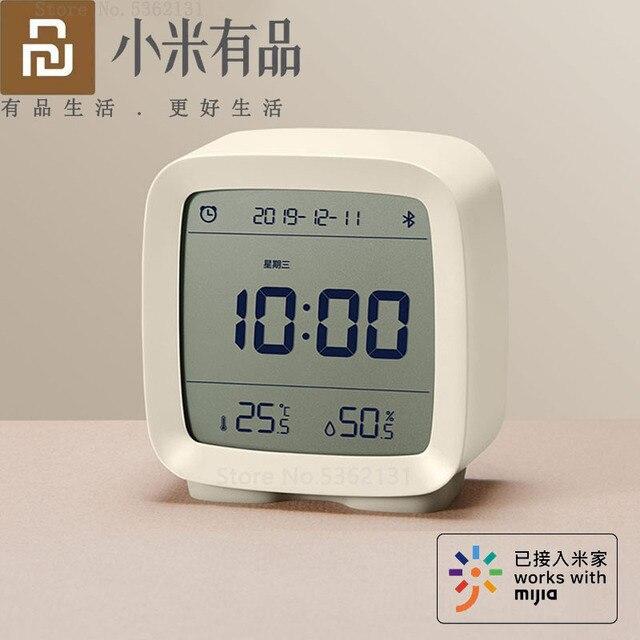 Youpin Cleargrass 3in1 Bluetooth Digitale Thermometer Vochtigheid Monitoring Wekker Nachtlampje Werken Met Mijia App Smart Home