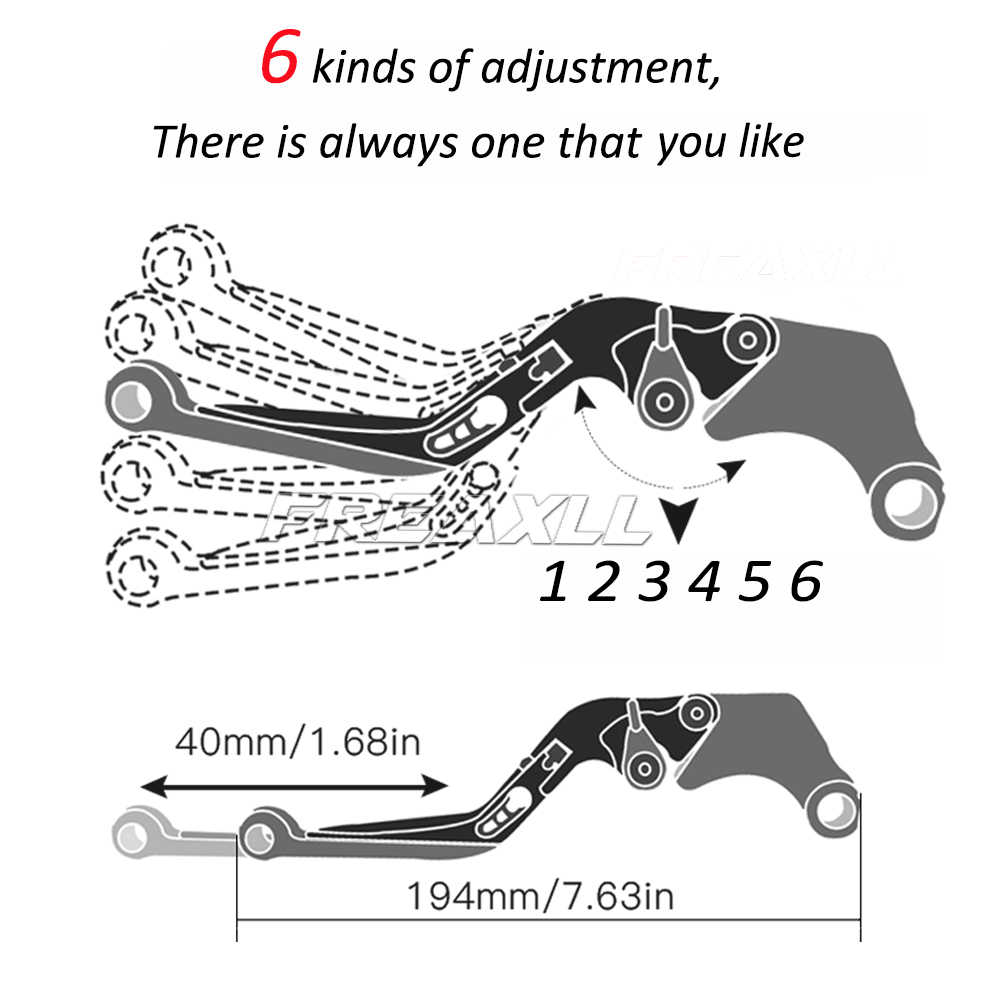 FIRESTORM 98-05 Fold/&Extend Brake/&Clutch Lever Handle Grip For Honda VTR1000F
