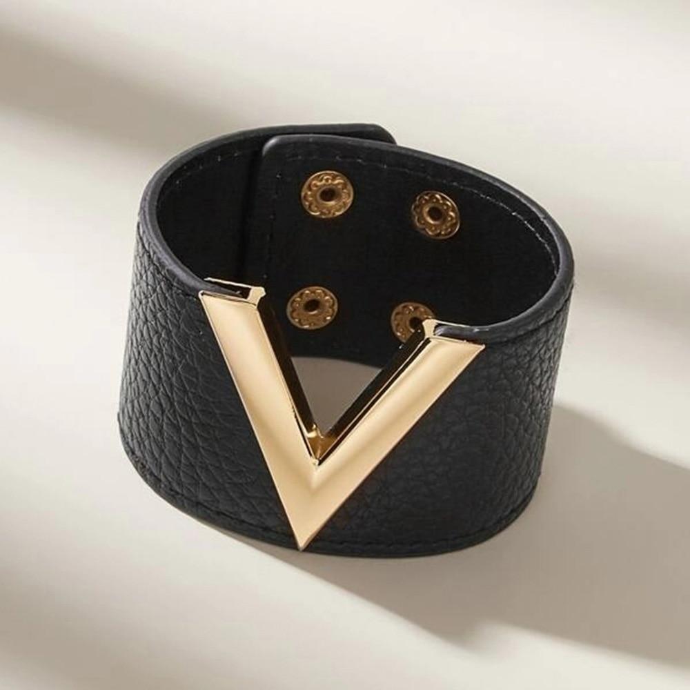 Kirykle-Bracelet en cuir pour femmes, grands bijoux à main, Simple, polyvalent, OL V, à la mode, nouvelle collection 2018 2