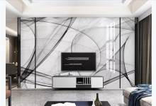 Wallpaper 3D Modern Brief Wallpaper For Walls 3 D abstract line marble TV Backdrop Photo Wall Mural(China)