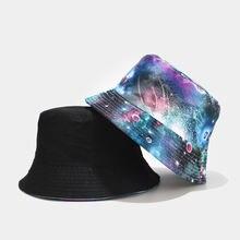 Панама двусторонняя для мужчин и женщин шапка с разноцветным