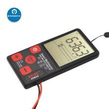 Цифровой мультиметр ADMS9 с автоматическим ЖК дисплеем, 3 линейный ЖК дисплей 3,5 дюйма, вольтметр, переменный ток, напряжение NCV, тестер сопротивления Ом, Гц