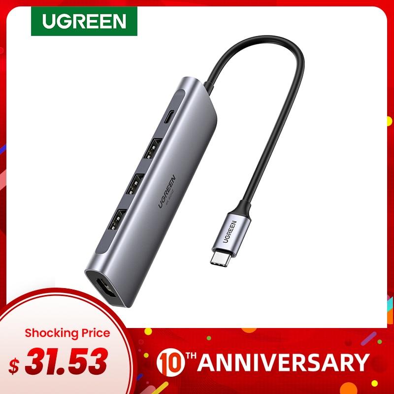 Ugreen 4K 60Hz USB C HUB Type C To Multi USB 3.0 HUB HDMI Adapter For IPad Pro 2018 MacBook USB-C 3.1 Splitter Port Type C HUB