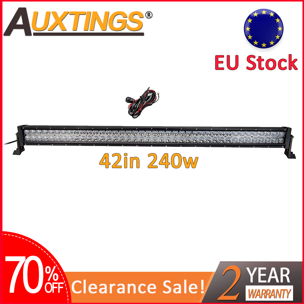 Auxtings Clearance Sale 240w Combo Led Work Light  42'' 42 Inch Offroad Led Light Bar For Jeep Car 4WD Truck SUV ATV EU Stock