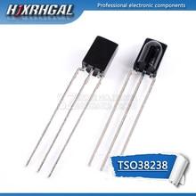 1 pces tsop38238 38238 freqüência central 38 khz receptor remoto infravermelho