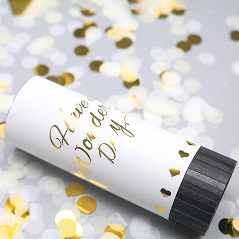 Вечерние ручной фейерверк с пушками конфетти, праздничные вечерние товары для свадьбы, Рождества, дня рождения, нового года