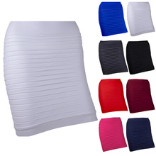 Short Skirt Pleated Candy-Color Sexy High-Waist Plus-Size Summer New-Fashion Cheapest