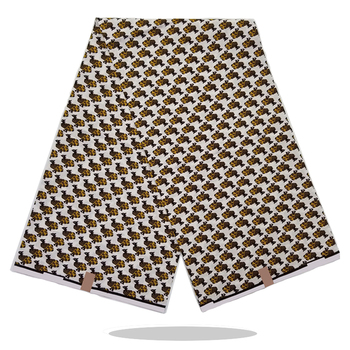 High Quality Nigerian Wax Printed Cotton Fabric 100%Soft Real Dutch African Wax Print Fabric 6Yards Women Dress Material VL15-33