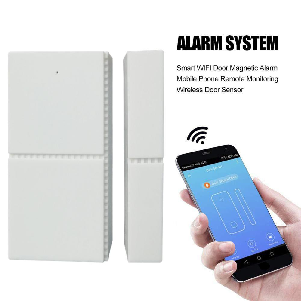WiFi Door Alarm Personal Security Sensor Alarm Doorbell Compatible With For Alexa Google Home Smart Door Alarm Clocks Accessory