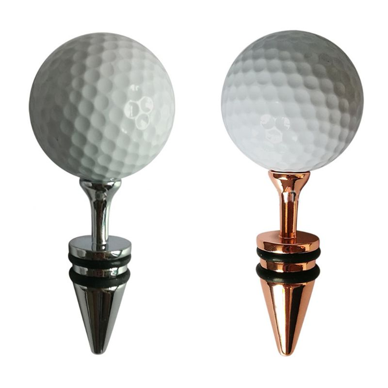 Creative Golf Ball Decorative Wine Bottle Stoppers Top Decoration Ideal Gift For Wine Or Golf Lover Keeps Wine Fresh