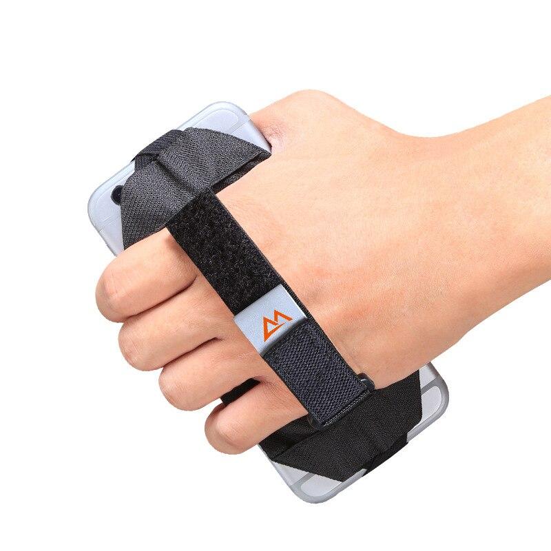 3.5-6 Inches Cellphone Holder Hand GripLightweight Thin Anti-slip Adjustable Finger Palm Strap Outdoor Running Accessories
