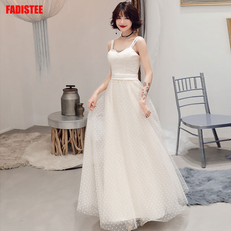 Elegant Prom party Dresses  Vestido de Festa dress evening long frock robe de mariee robe communion fille ivory lace Autumn