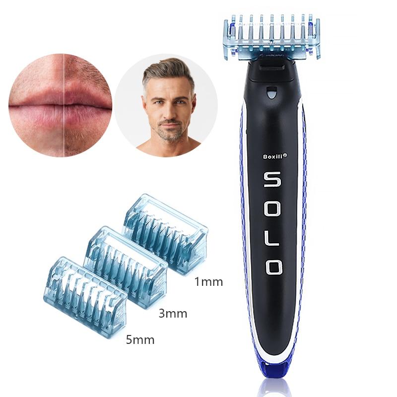 USB Rechargeable Shaver Razor Beauty Beard Shaver Barbeador Nose Hair Trimmer Fast Hair Shaving Machine Kit