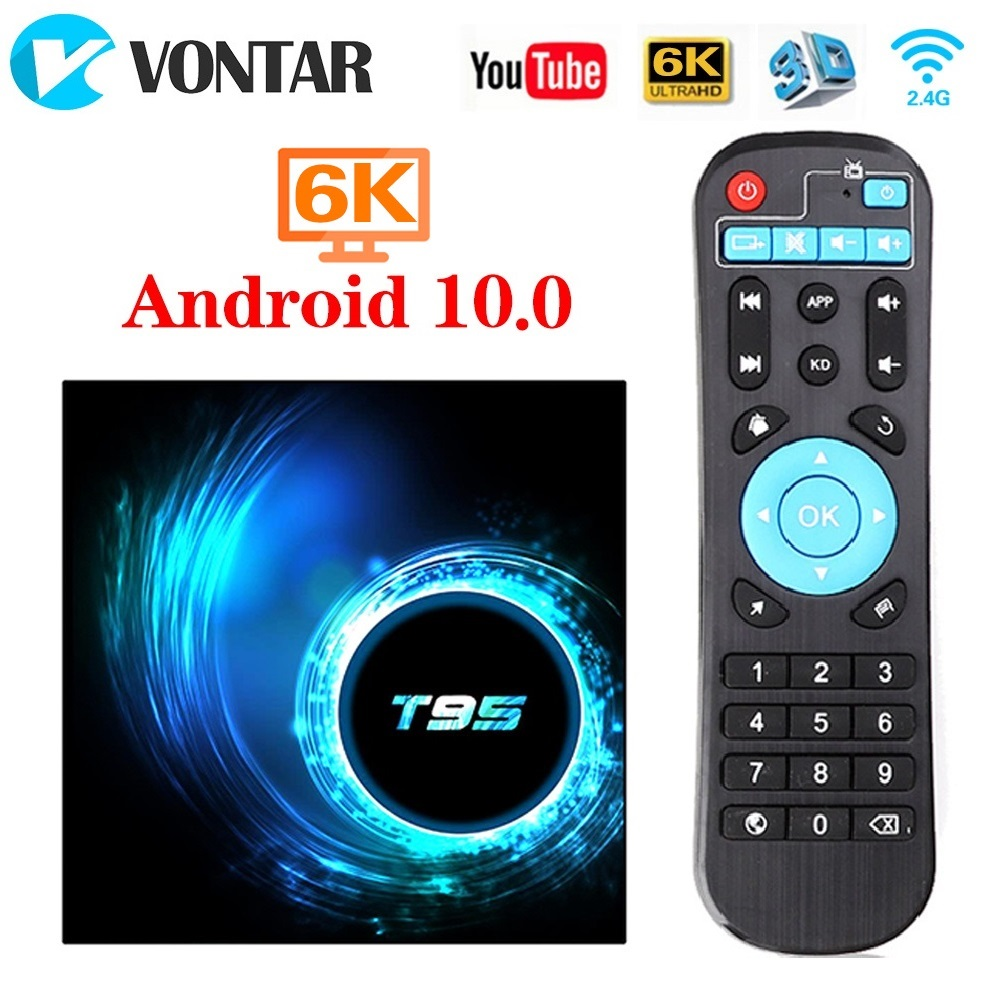 TV Box Android 10 T95 4GB 64GB Smart TV Box Allwinner H616 Quad Core 6K 2.4GHz Wifi Support Google Player Youtube Set Top Box