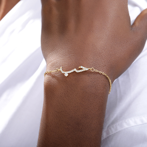 Image 3 - Fashion Stainless Steel Gold Bracelet For Women Arabic Islam Boho Jewelry  Saudi Hand Chain Statement Bracelet Christmas Gift