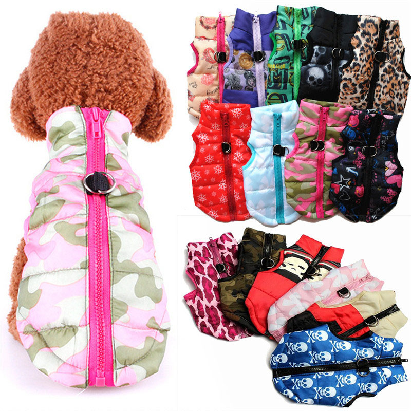 Christmas Waterproof Dog Coat Winter Puppy Clothes Camo Pattern Small Dog Jacket Chihuahua Yorkie Clothes petshop ropa para
