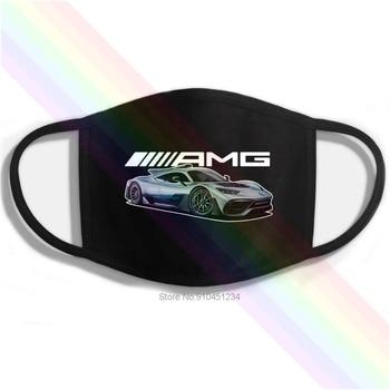 AMG Sports Car Logo Black Printing Washable Breathable Reusable Cotton Mouth Mask