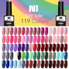 NEE JOLIE 8ml Color Gel Polish One-shot Nail Art UV LED Varnish Soak Off 119 Colors