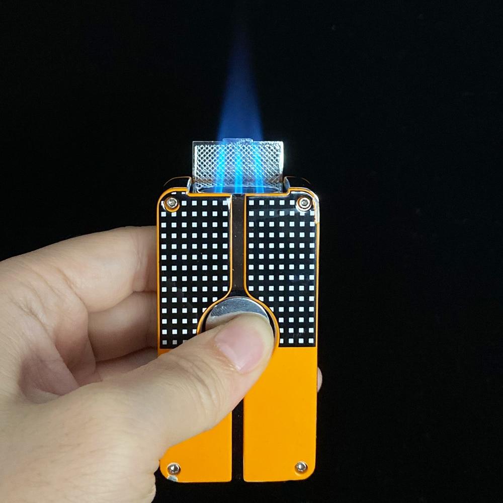 Cohiba металлическая зажигалка для сигар, зажигалка для табака, 3 фонарь, струйное пламя, многоразовая зажигалка, инструмент для курения, аксес...