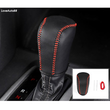 Car Leather Knob Cover For Honda Civic 10th 2015 2016 2017 2018 2019 Gear Head Shift Collars Case