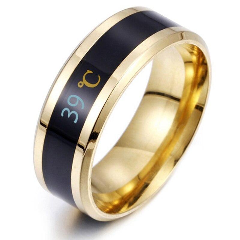 Температурное водонепроницаемое кольцо из титановой стали настроения чувства эмоции интеллектуальные чувствительные к температурам кольца для мужчин и женщин ювелирные изделия