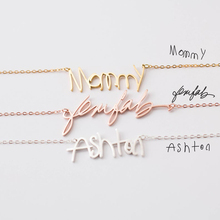 Personalized Custom Actual Handwriting Necklace BFF Stainless Steel Silver Gold Chain Choker Women Girls Jewelry
