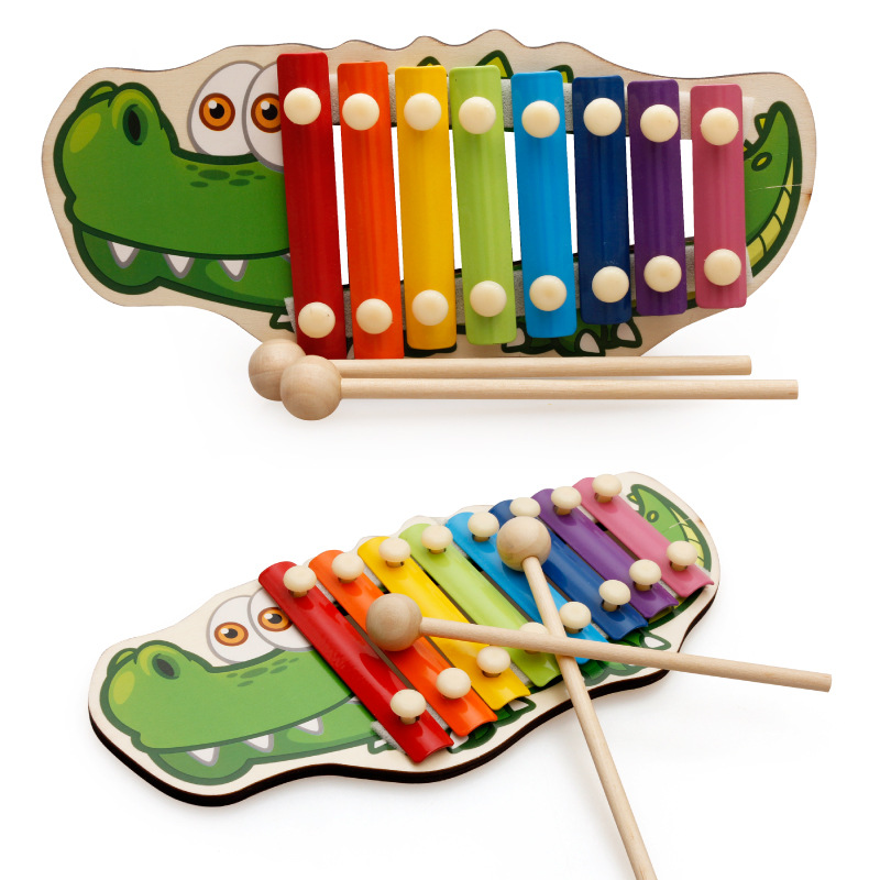 Hot Sale Children Musical Toys Rainbow Wooden Xylophone Music Instrument Learning Education Puzzle Toy Practice Kid Music Study image