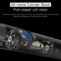 New Portable Professional Mini Auto Car Wireless Inflatable Pump Electric 12V LCD Digital Car Air Pumps Tire Inflator Car Bike P