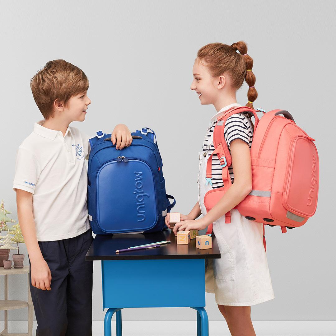 25L Kids Children Backpack Rucksack Adjustable Reflective Large Capacity Student School Shoulder Bag Girls Boys Waterproof Bag