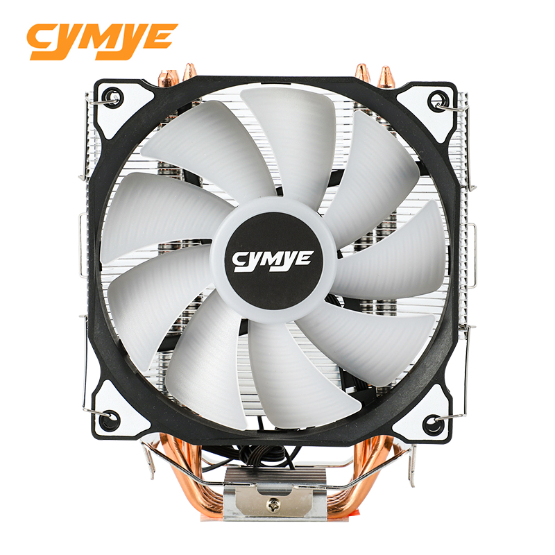 Cymye CPU Cooler Master 4 Pure Copper Heat-pipes freeze Tower Cooling System CPU Cooling Fan with PWM Fans