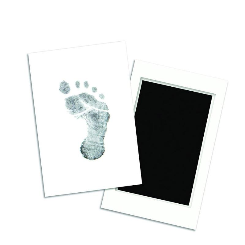 Newborn Baby Handprint Footprint Makers Clean-touch Ink Pad W/Print Paper