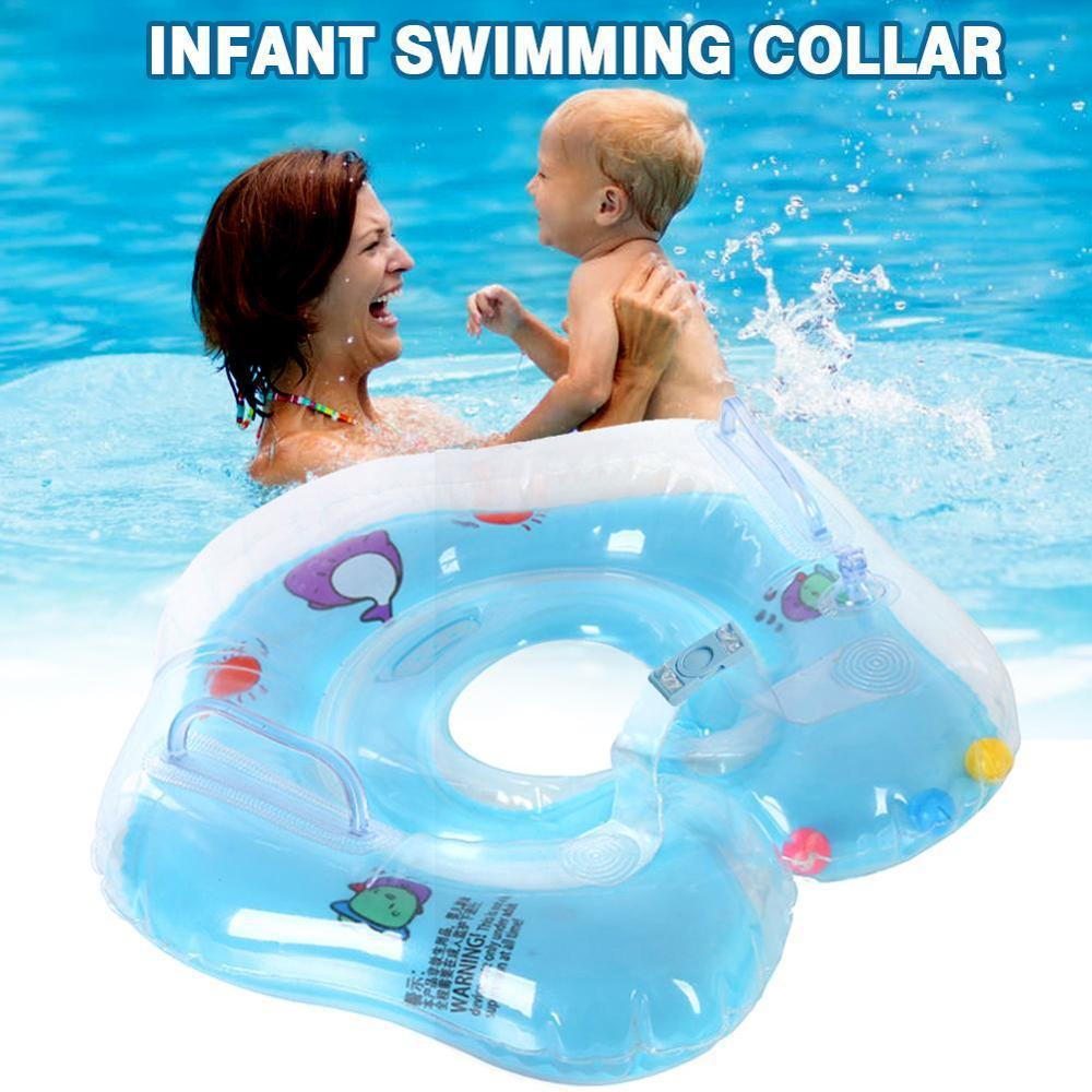 0-2 Years Baby Swimming Ring Neck Tube Ring Safety Infant Neck Float Circle For Baby Swimming Pool Bathing Inflatable