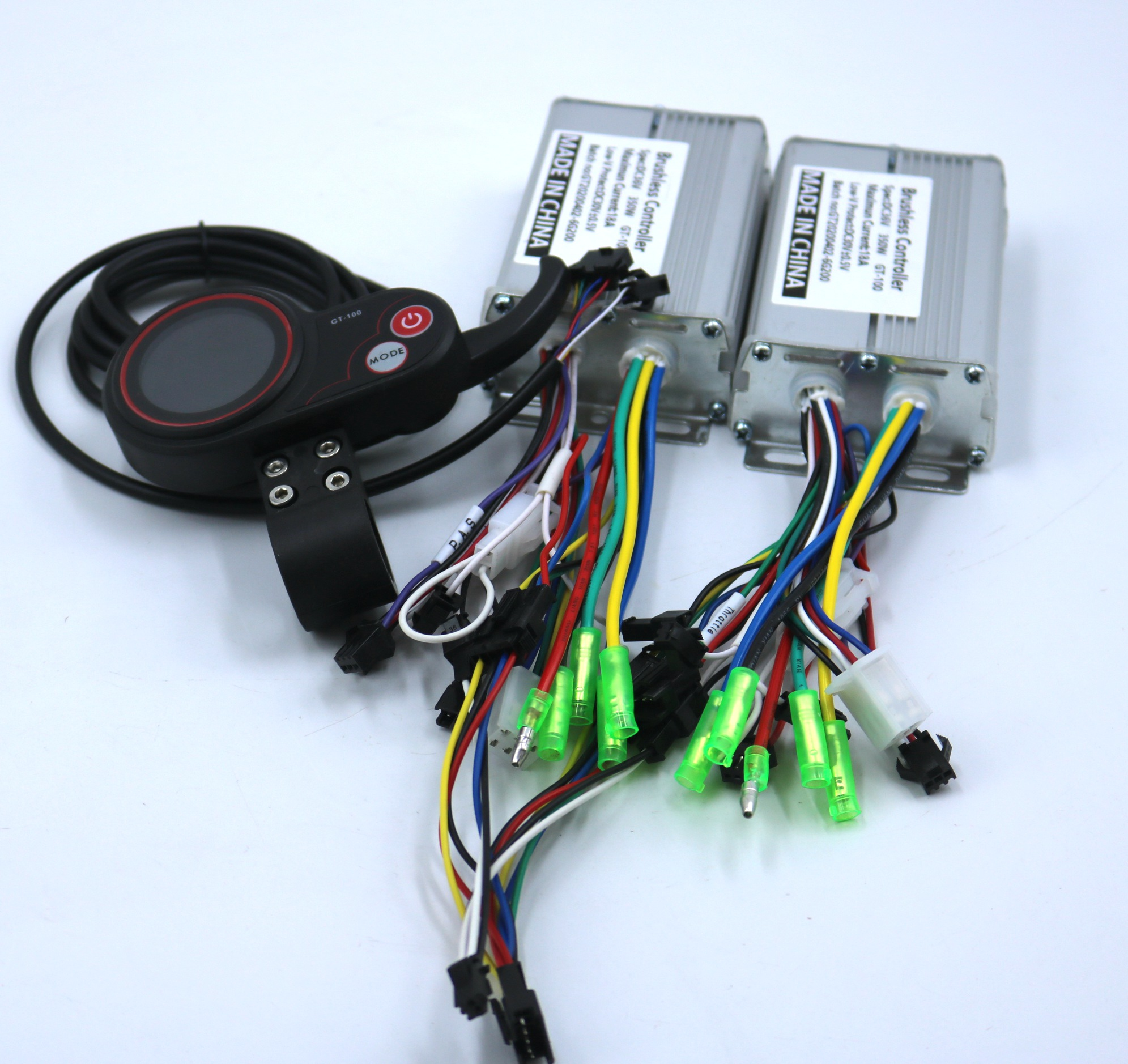 Dual Drive  36V/48V 350W BLDC Electric Scooter Controller E-bike 2 Pcs Brushless Speed Driver And 1Pcs LCD Display One Set