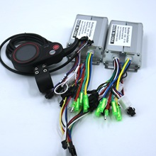 Dual Drive 36V/48V 350W Bldc Elektrische Scooter Controller E-Bike 2 Pcs Brushless Speed driver En 1Pcs Lcd Display Een Set
