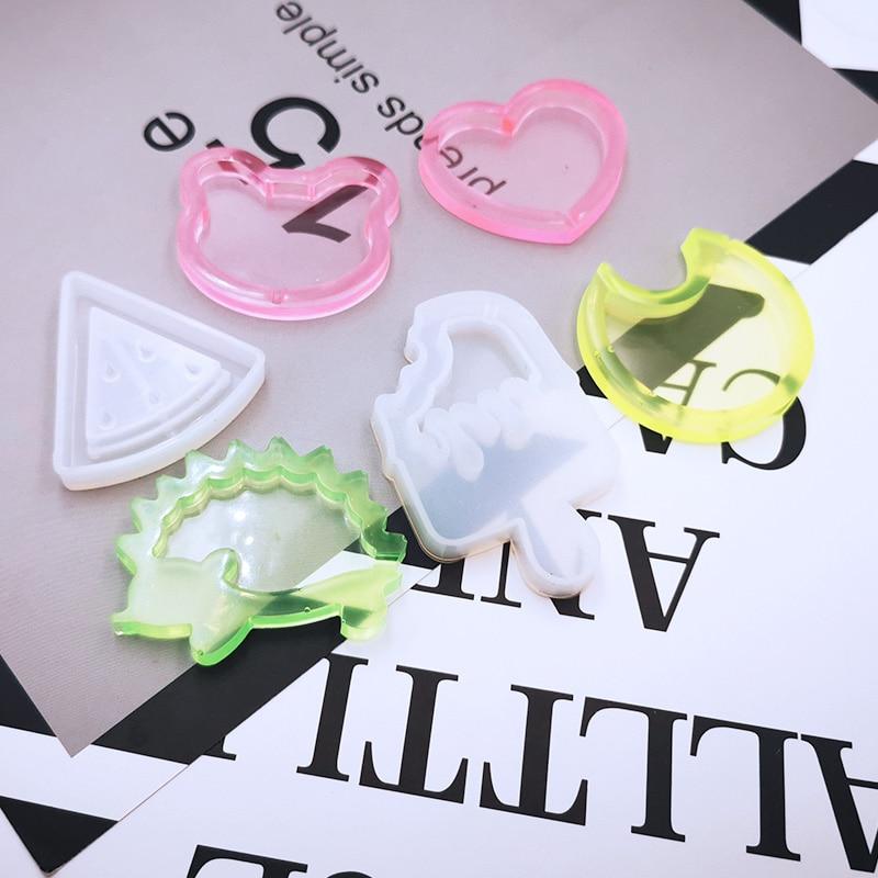 1pc Strawberry Shaker Silicone Molds Jewelry Mold Star Bear Key Chain Charm Jewelry Craft Tool