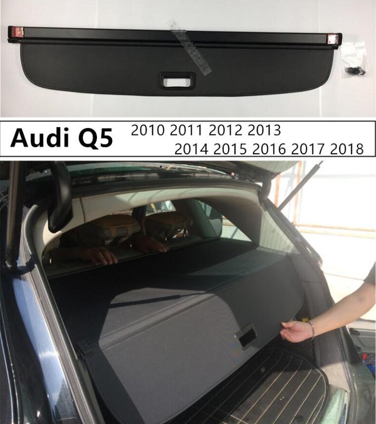 Pour coffre arrière couverture de cargaison bouclier de sécurité pour Audi Q5 2010 2011 2012 2013 2014 2015 2016 2017 2018 accessoires Auto de haute qualité