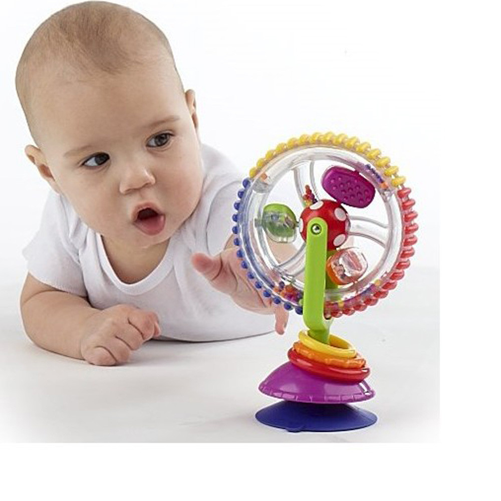 Baby Cart Chair Sucker Around The Ferriswheel Rotating Windmill Bell Intelligence Development Puzzle Infant Dining Chair Cart