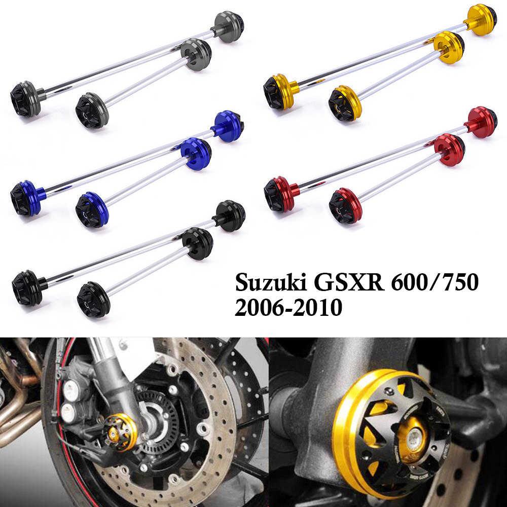 Areyourshop Front Axle Fork Crash Sliders Cap for Suzuki GSXR 600//750 2004-2005 K4 Gold