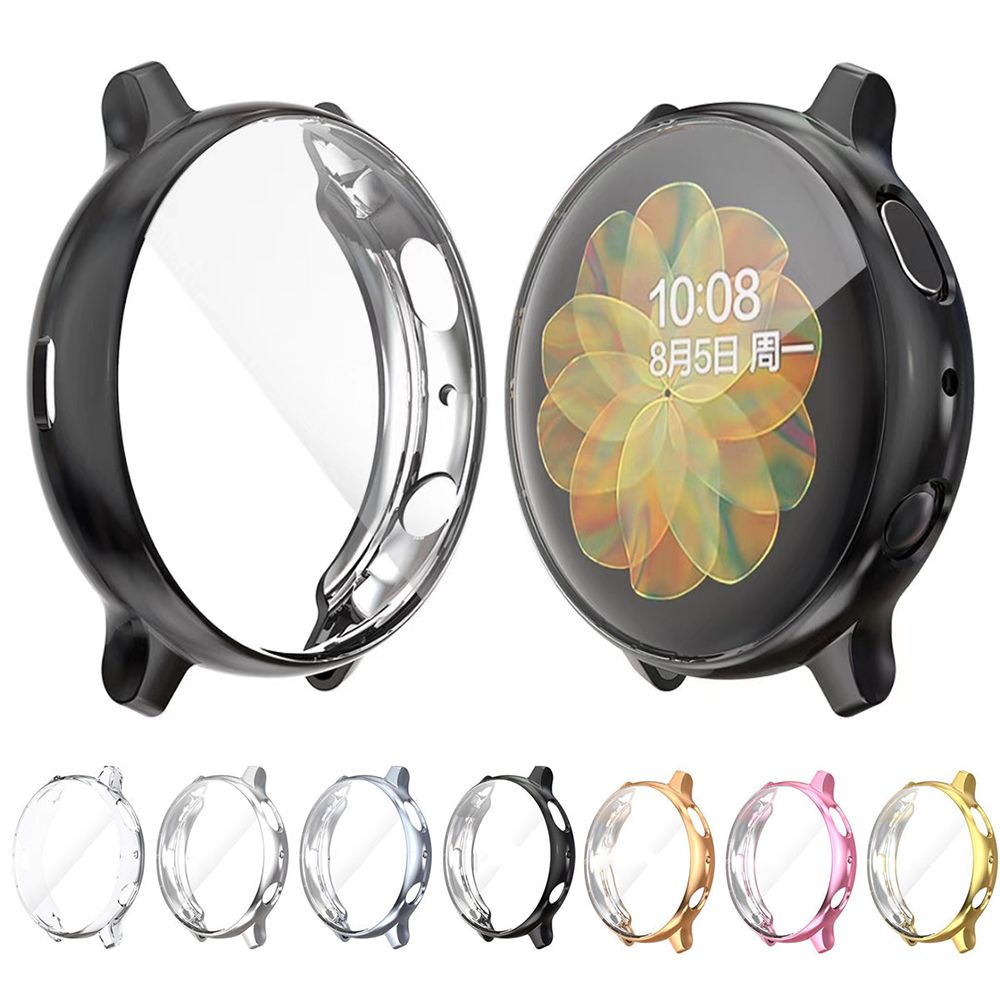 Protective Case For Samsung Galaxy Watch Active 2 44mm 40mm SM-R830 R820 R500 Silicone HD Full Screen Protection Cover Cases