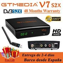 Gtmedia-Receptor de satélite DVB-S2 V7 S2X, 1080P, Gtmedia V7s2x con wifi usb HD, actualización de gtmedia v7s HD, almacén de España