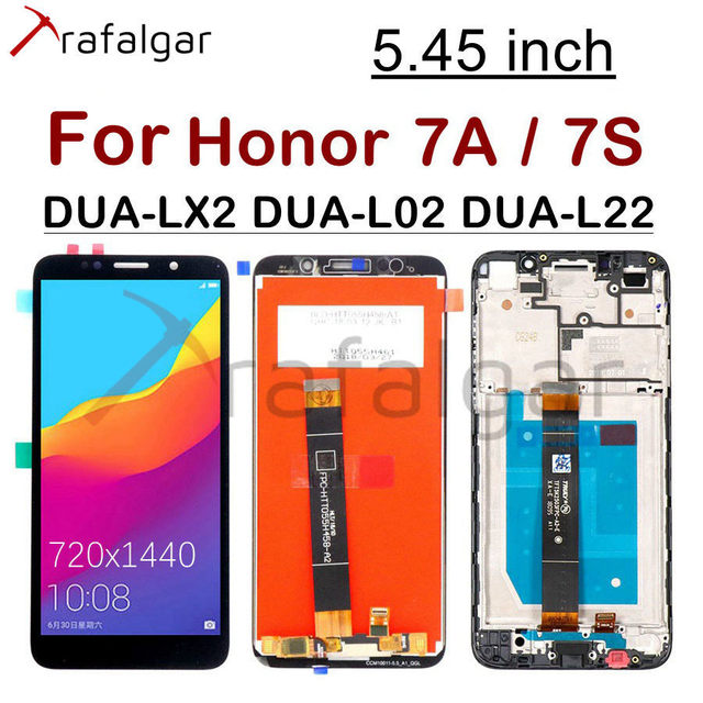 """5.45"""" Display for Huawei Honor 7A LCD Display Honor 7S DUA L22 L02 LX2 Touch Screen For Honor 7A Display With Frame Y5 2018"""