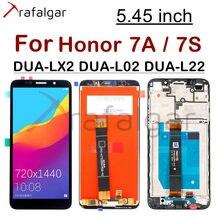 """5.45 """"תצוגה עבור Huawei Honor 7A LCD תצוגת כבוד 7S DUA L22 L02 LX2 מגע מסך לכבוד 7A תצוגה עם מסגרת Y5 2018"""