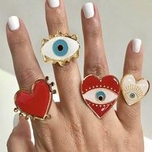 new ring celebrities  fashion demon eye opening punk big woman gothic jewelry