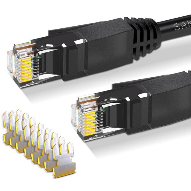 شبكة كابل النحاس CAT6 UTP RJ45 سلك المنزل جيجابت عالية السرعة C10 راوتر الكمبيوتر النطاق العريض إيثرنت كابل خط 20 30 40 50M