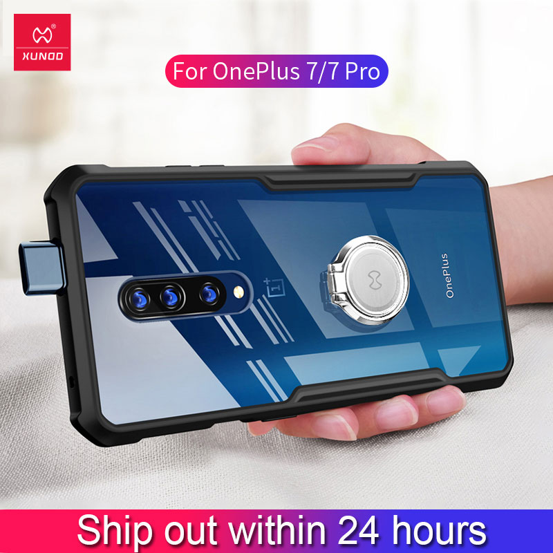 For Oneplus 7 Pro Case xundd Luxury 3D Laser Plating TPU Cover For One Plus 7 Oneplus7 Shockproof Phone Cases With Strap